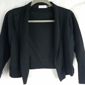 Calvin Klein shrug, short cardigan sweater small